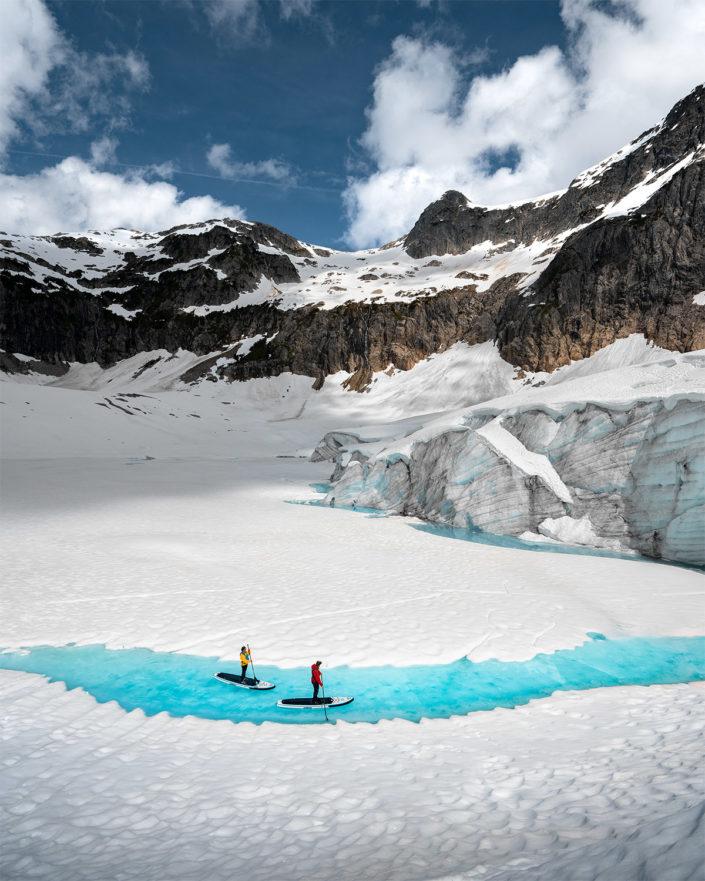SUP Glacier Lake