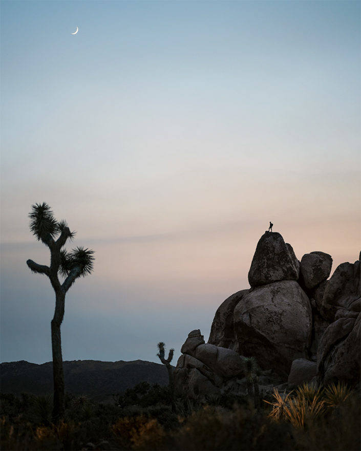 Joshua Tree Climbing Sunset