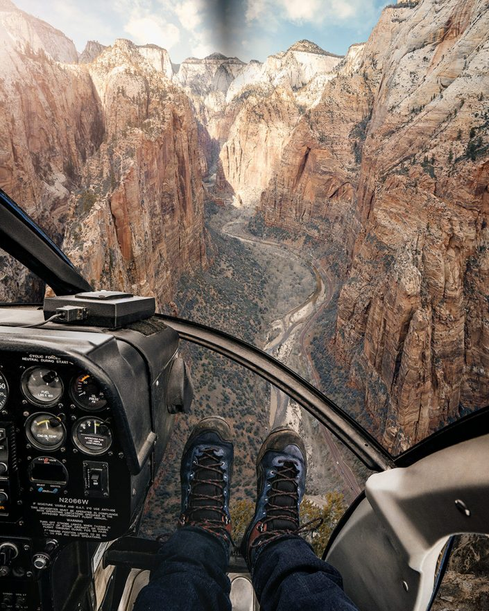 Helicopter Zion