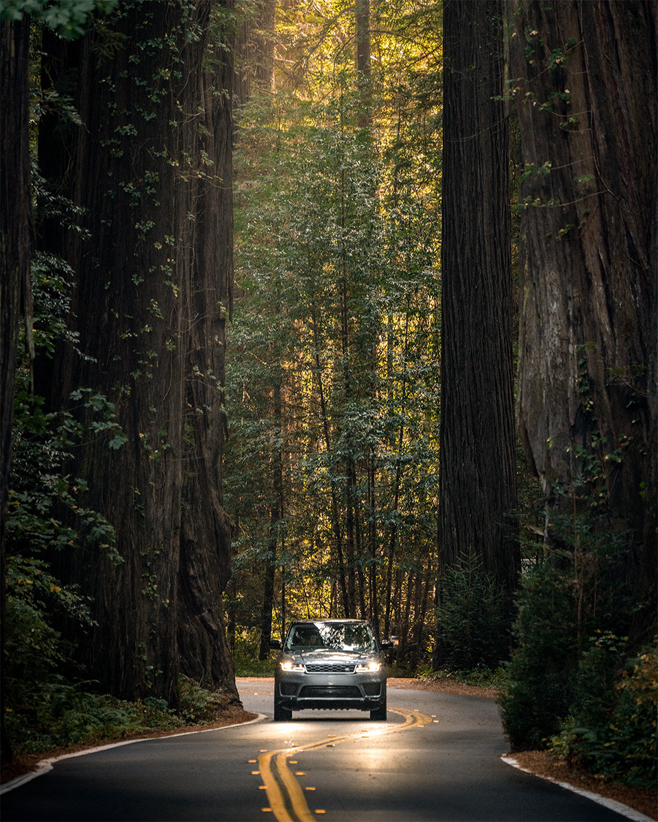 California road trip Range Rover