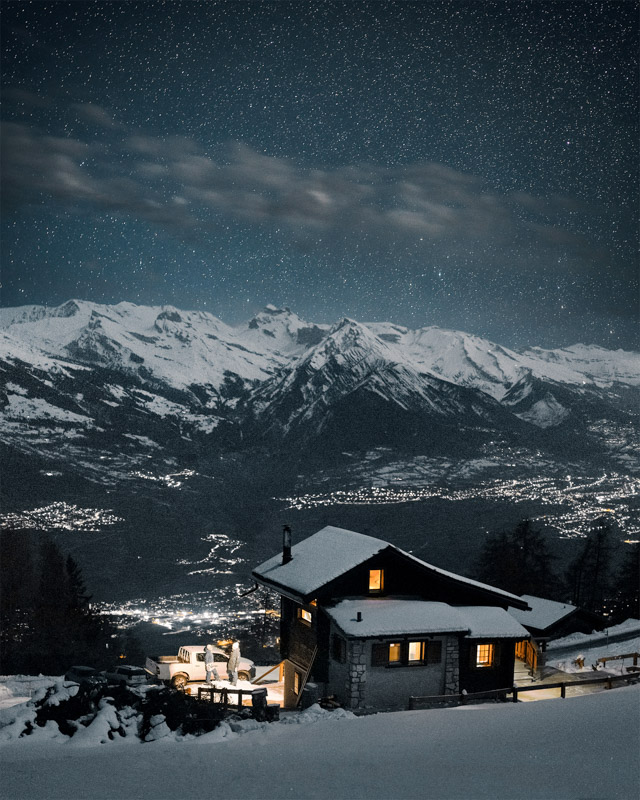 Nendaz at night